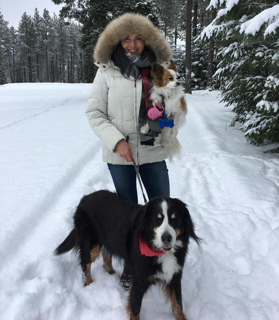 Sheri in the snow